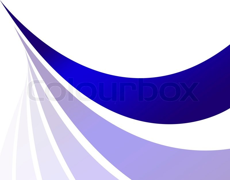 Designer Lines : An abstract design template with blue swoosh lines and