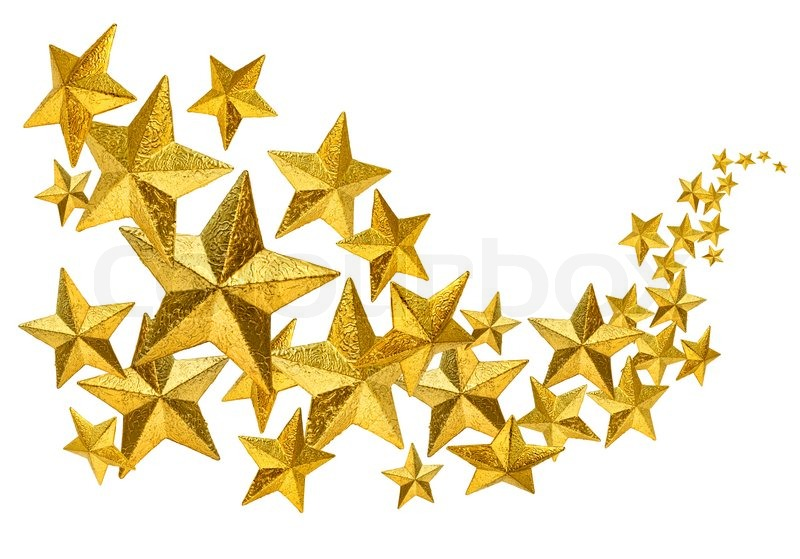 golden christmas decoration stars flow isolated on white Small Star Clip Art Small Star Clip Art
