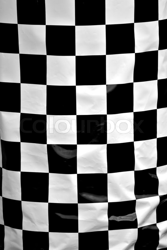 A black and white checkered flag texture up close | Stock ...