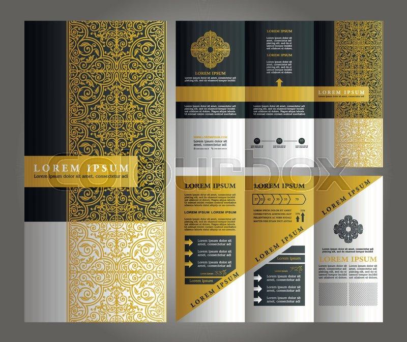 islamic brochure design brochure vector design flyer creative template trifold
