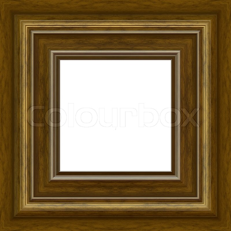 A Fancy Wooden Photo Frame Border With Copy SpaceClipping Path Is Included For The White Center Area
