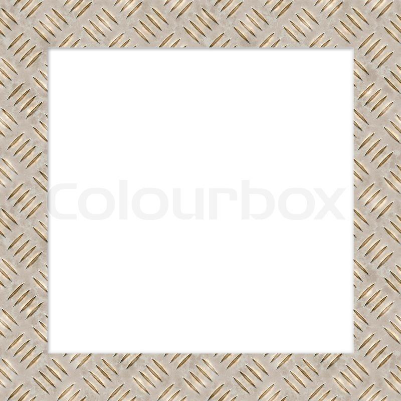 diamond plate metallic border-#7