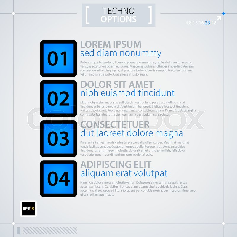 modern menu template futuristic techno business style useful for