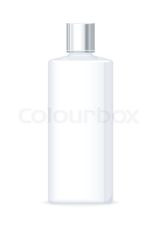 Lotion Or Shower Gel Bottle Isolated On White Empty Cosmetic Mesmerizing Decorative Plastic Bottles For Shower
