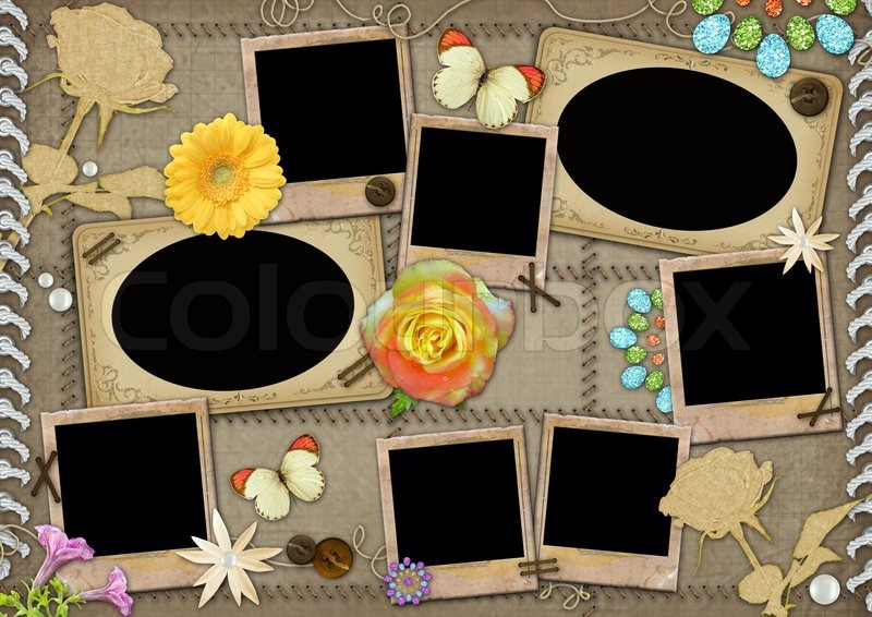 template for a collage photo stock photo colourbox