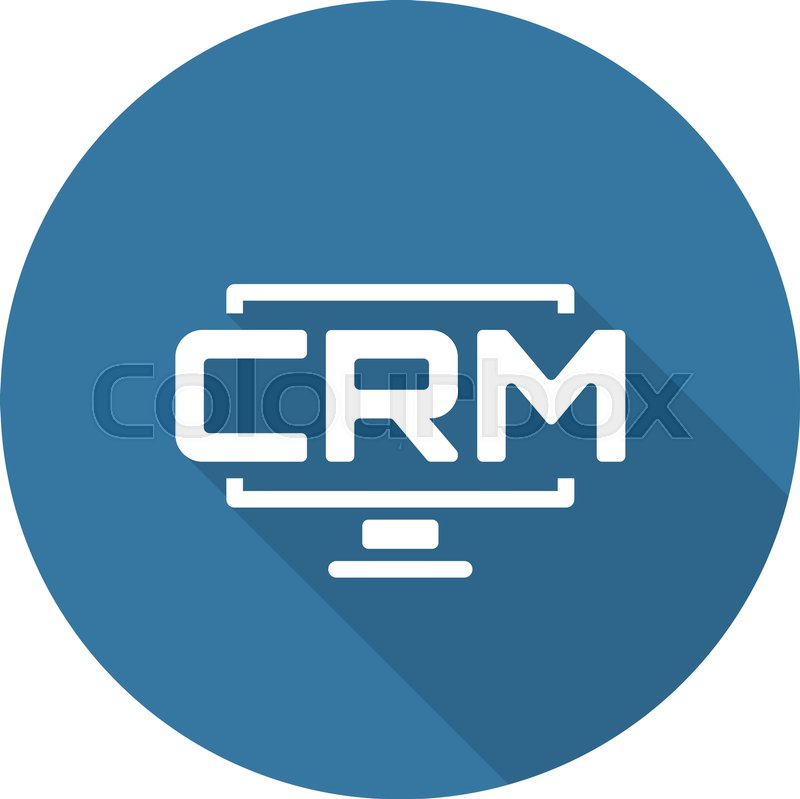 Desktop Crm System Icon Business And Finance Isolated Illustration