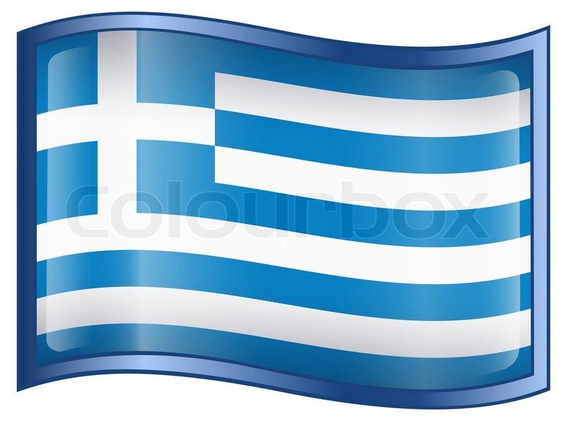 GriechenlandFlagge Icon  isoliert auf weiem Hintergrund