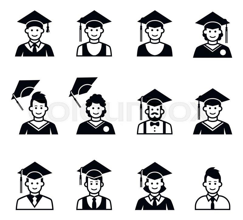 University Students Graduation Avatar. ...