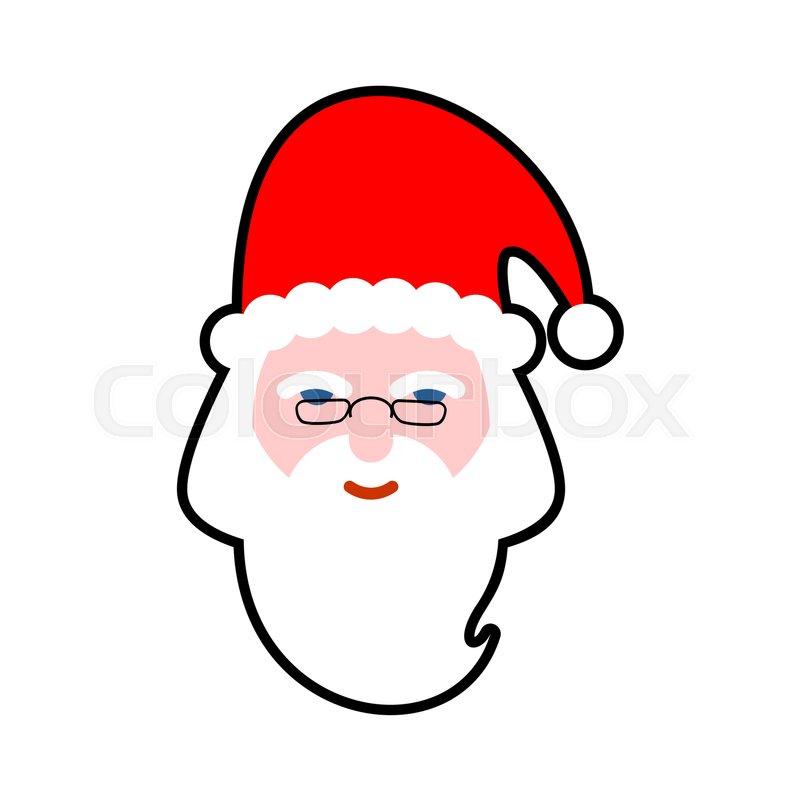 Santa Face Isolated Beard And Stock Vector Colourbox