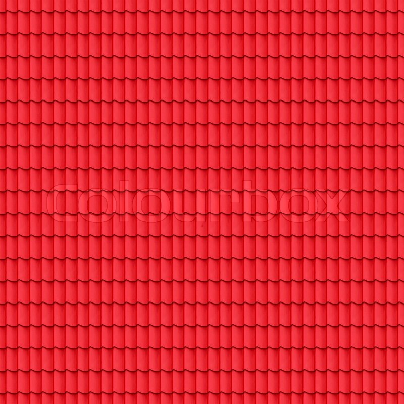 Red Tiled Roof Seamless Background Texture Pattern For