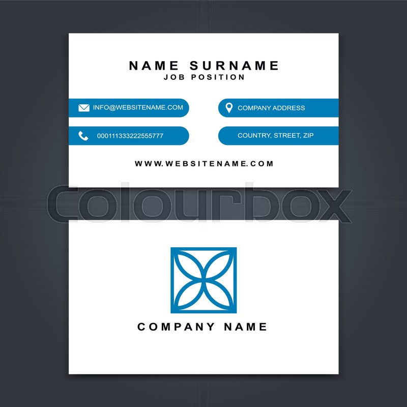 Vector Business Card creative Design, Modern trend style, front and back samples, luxury templates in classic colors, blank layout for your idea | ...