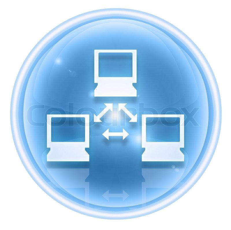 Stock Bild von 'Netzwerk-Symbol Eis, isoliert auf weißem Hintergrund'