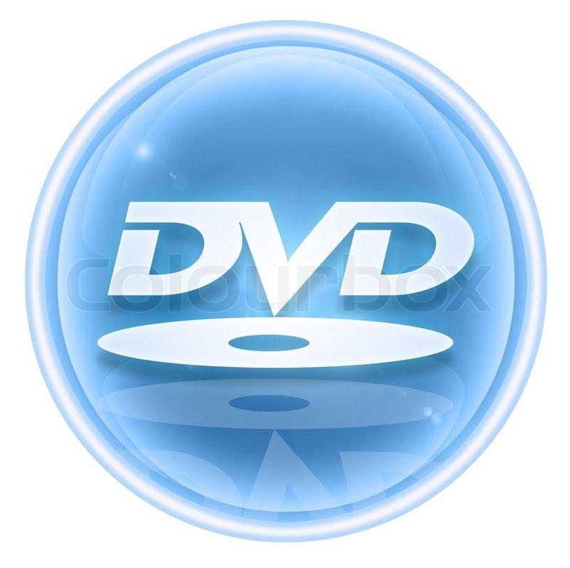 Dvd Icon Ice Isolated On White Stock Photo Colourbox
