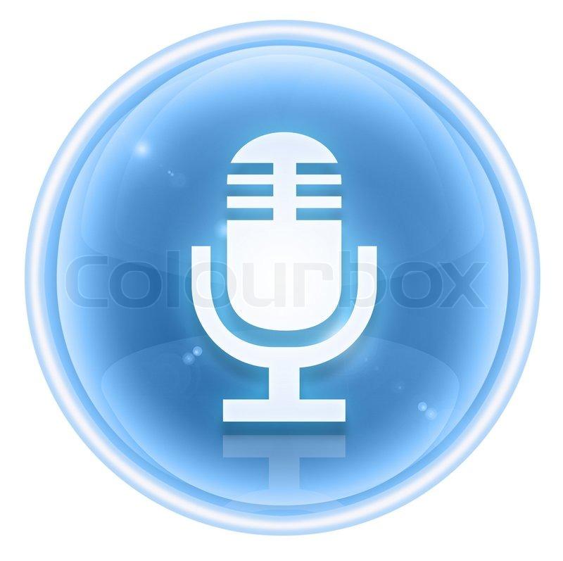 Mikrofon -Symbol Eis, isoliert auf weißem Hintergrund | Stockfoto ...