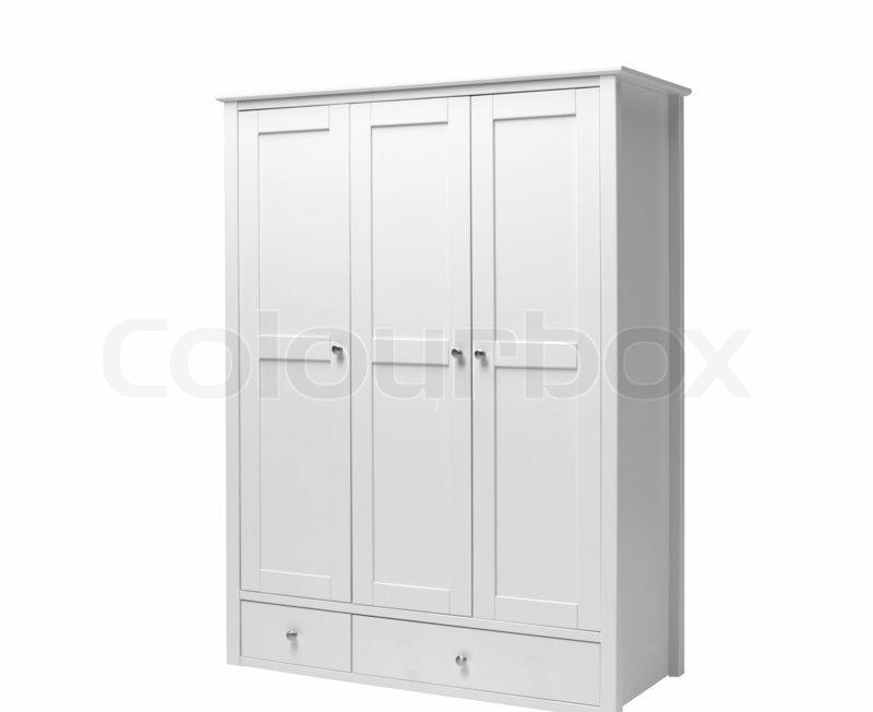 retro stil wei en schrank isoliert auf wei stockfoto colourbox. Black Bedroom Furniture Sets. Home Design Ideas