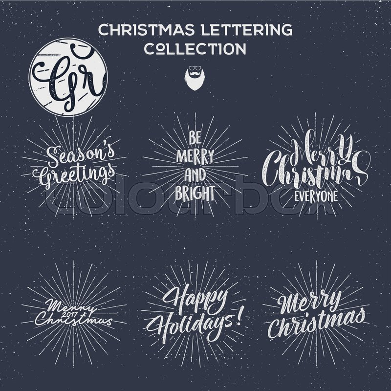 Set of christmas new year 2017 lettering wishes sayings and set of christmas new year 2017 lettering wishes sayings and vintage labels seasons greetings calligraphy holiday typography design vector design m4hsunfo
