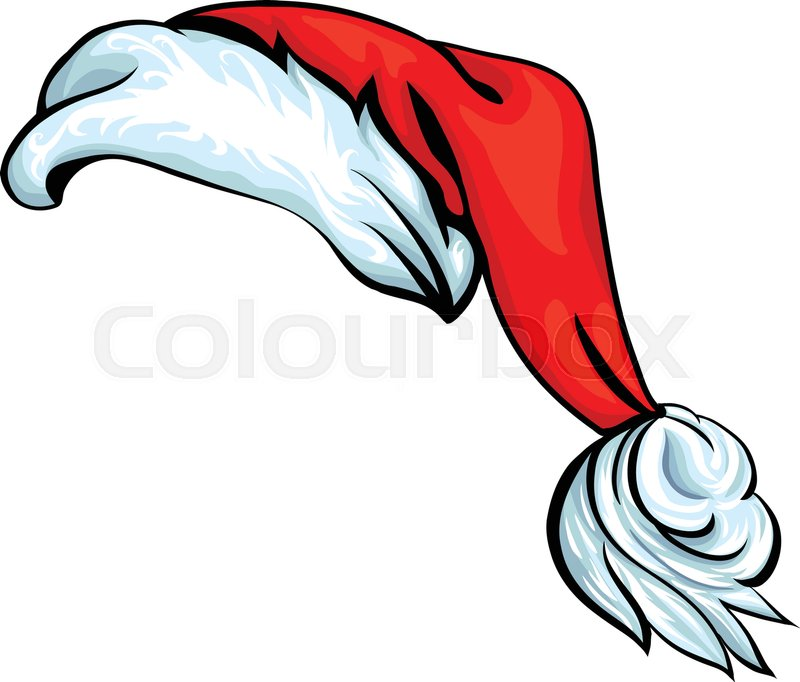 cartoon santa hat isolated on white eps 10 vector stock vector rh colourbox com santa claus hat cartoon santa hat cartoon drawing