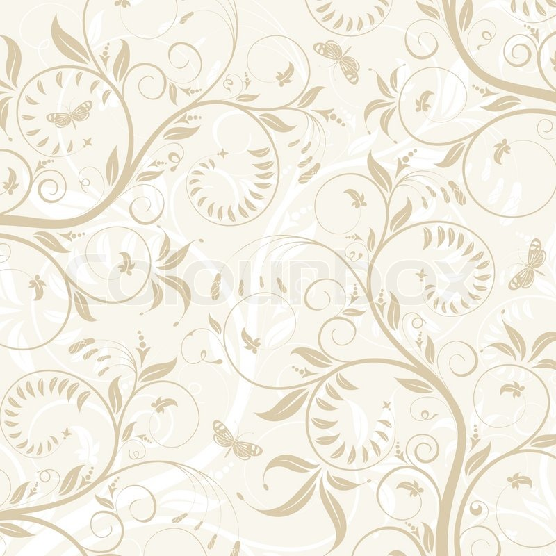Flower texture with butterfly, element for design, vector ...