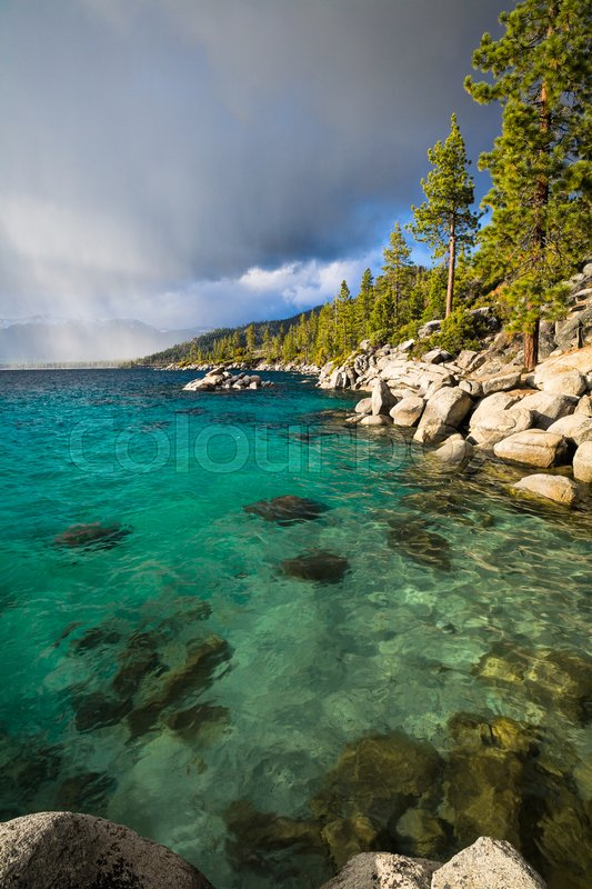 The northern part of Lake Tahoe ...