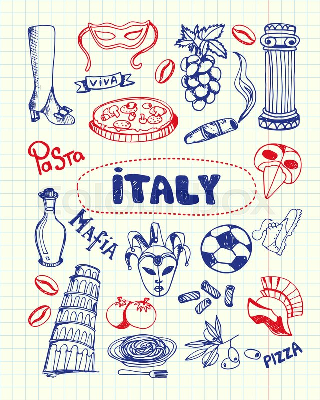 Italy Associated Symbols Italian National Cultural Culinary