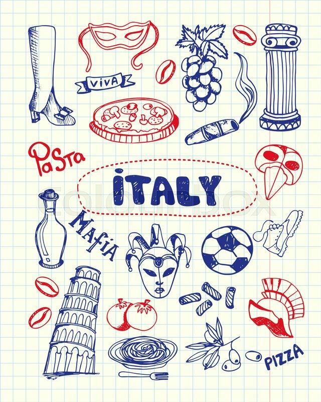 Italy Associated Symbols Italian National Cultural Culinary