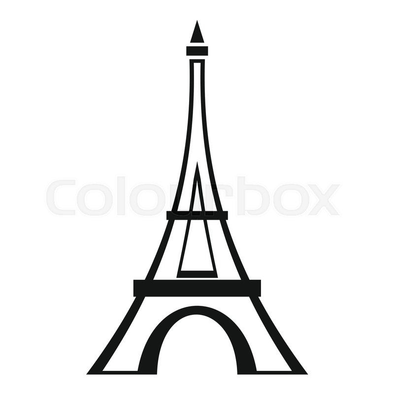 eiffel tower icon simple illustration of eiffel tower vector icon rh colourbox com eiffel tower vector free eiffel tower vector free