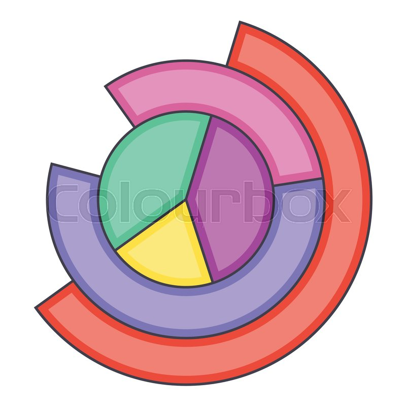 Business Pie Chart Icon Cartoon Illustration Of Business Pie Chart