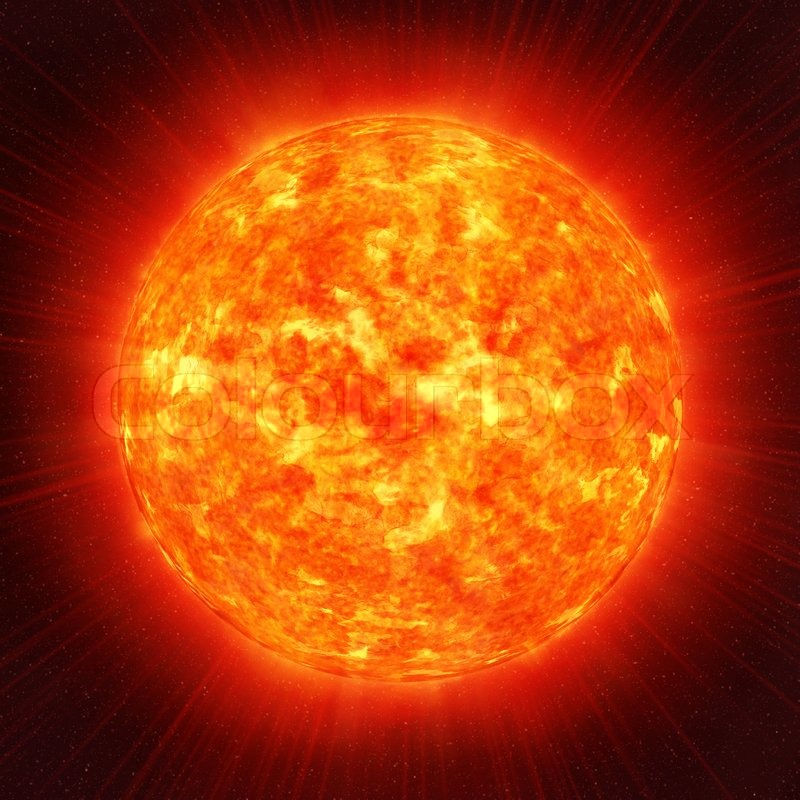 Sun planet in the space | Stock Photo | Colourbox