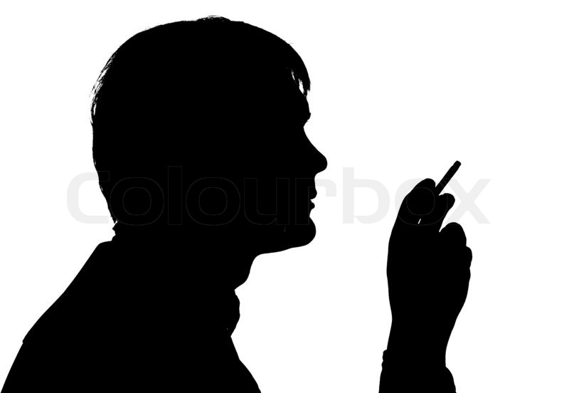 Black Silhouette Man Smoking
