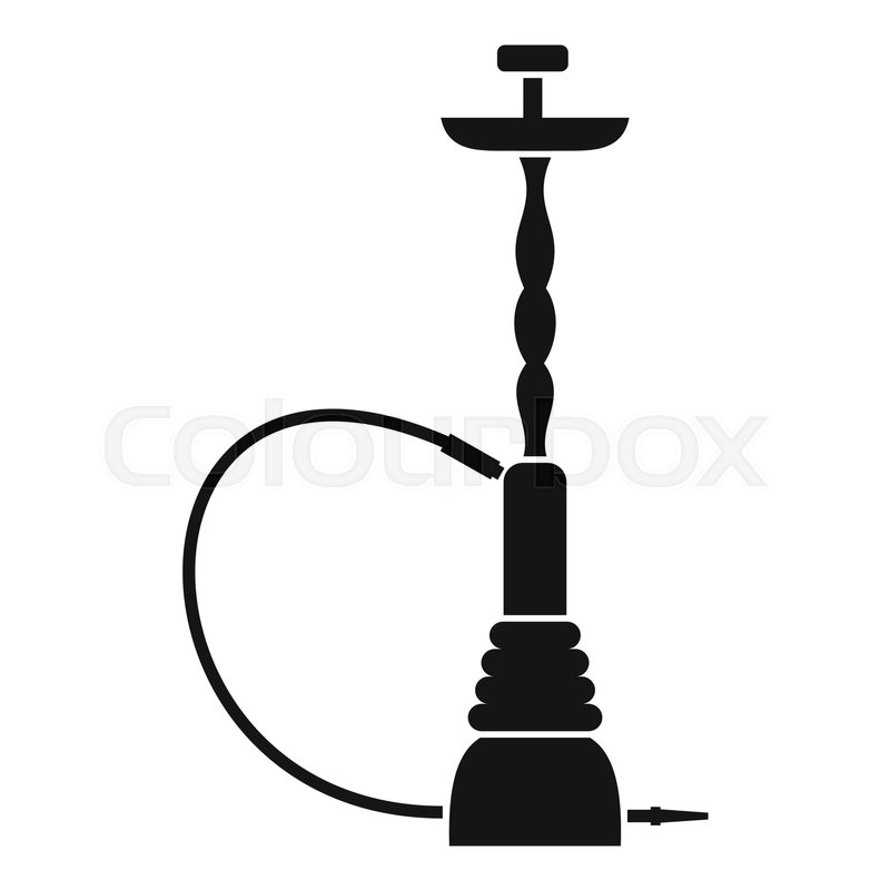 hookah icon simple illustration of hookah vector icon for web rh colourbox com hookah vector file hookah vector download