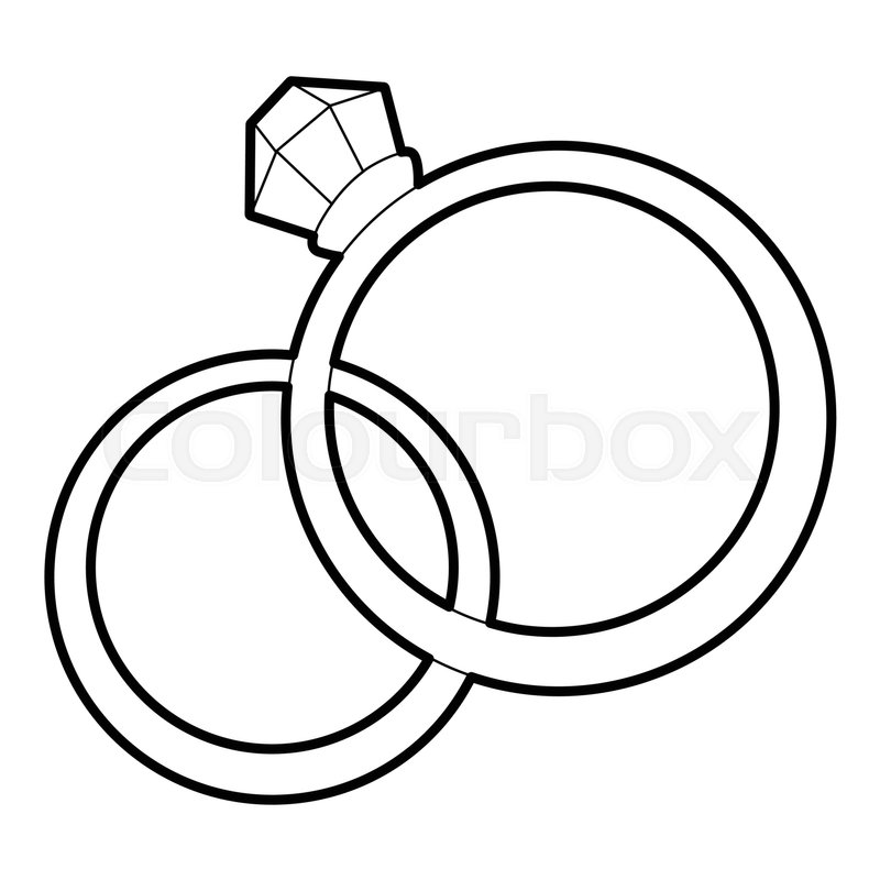 Wedding Rings Icon. Outline Illustration Of Wedding Rings
