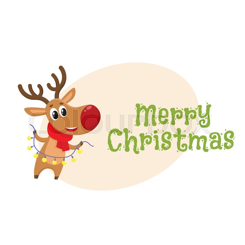 Merry Christmas Greeting Card Template Stock Vector Colourbox