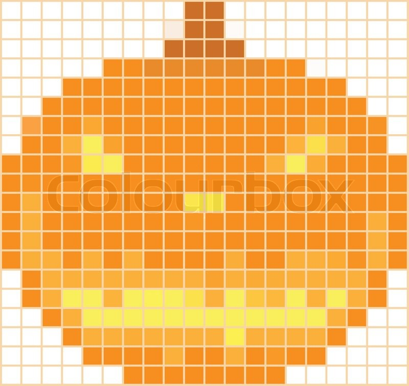 Pumpkin mosaic on a white background by a holiday halloween, vector
