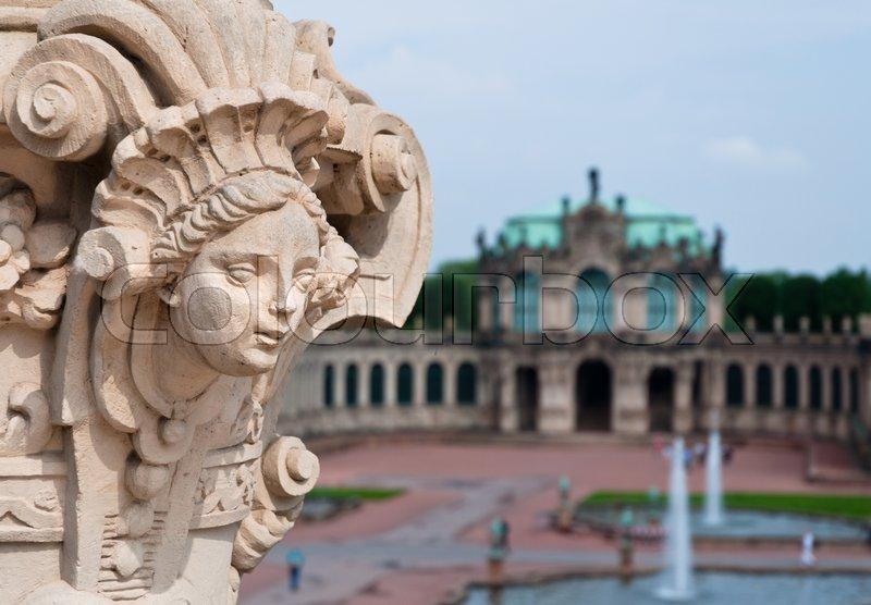 Sculpture in Zwinger Museum, Dresden, stock photo