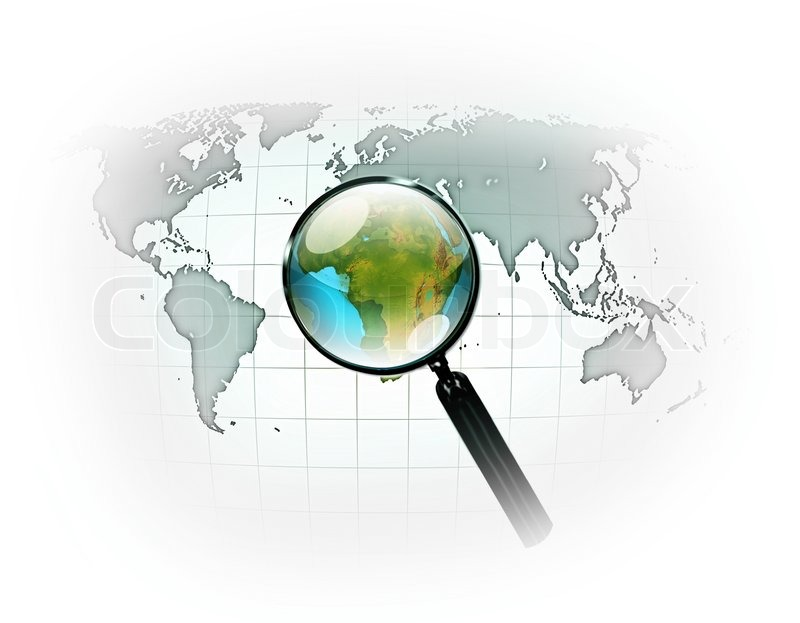 World map with a magnifying glass computer generated stock photo world map with a magnifying glass computer generated stock photo colourbox gumiabroncs Image collections