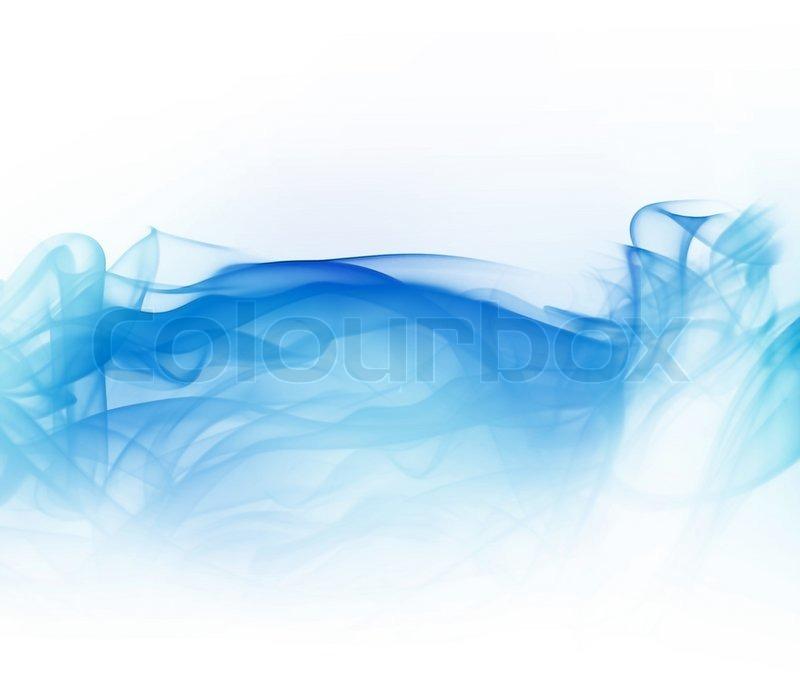 Abstract Light Blue Smoke Isoliert Auf Stock Bild