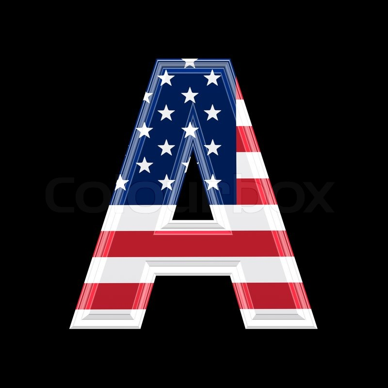 Us 3d letter isolated on black background a stock for Mobel 9 buchstaben