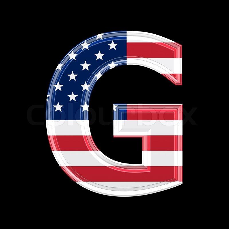 Us 3d letter isolated on black background g stock photo colourbox altavistaventures Choice Image