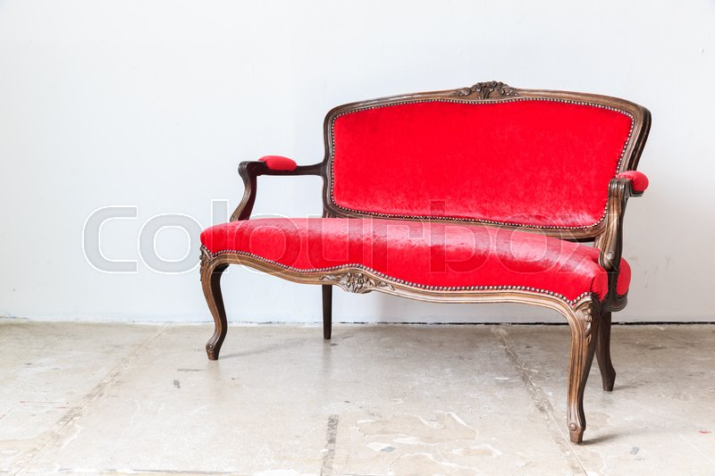 sofa klassisch rot stockfoto colourbox. Black Bedroom Furniture Sets. Home Design Ideas