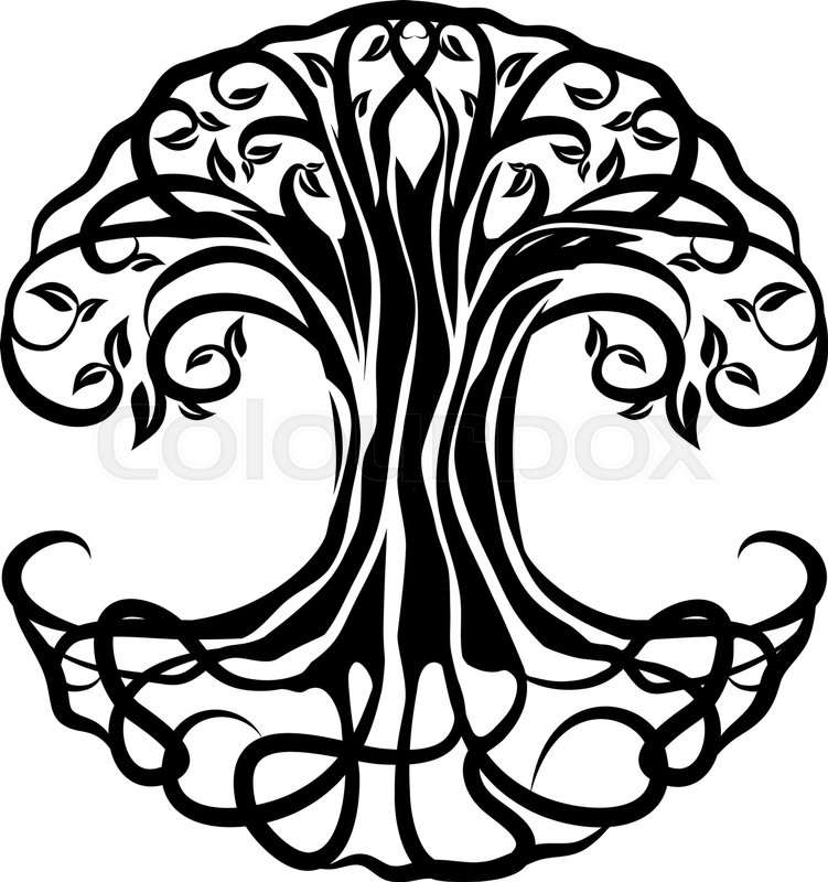 tree of life silhouette over white background stock vector colourbox rh colourbox com tree of life vector free tree of life vector free download