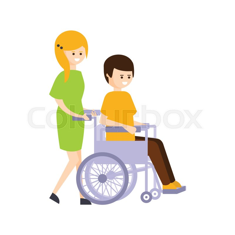 Physically Handicapped Person Living ... | Stock Vector ...