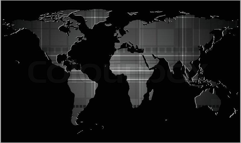 Dark tech background with world map texture stock vector colourbox dark tech background with world map texture vector gumiabroncs Image collections