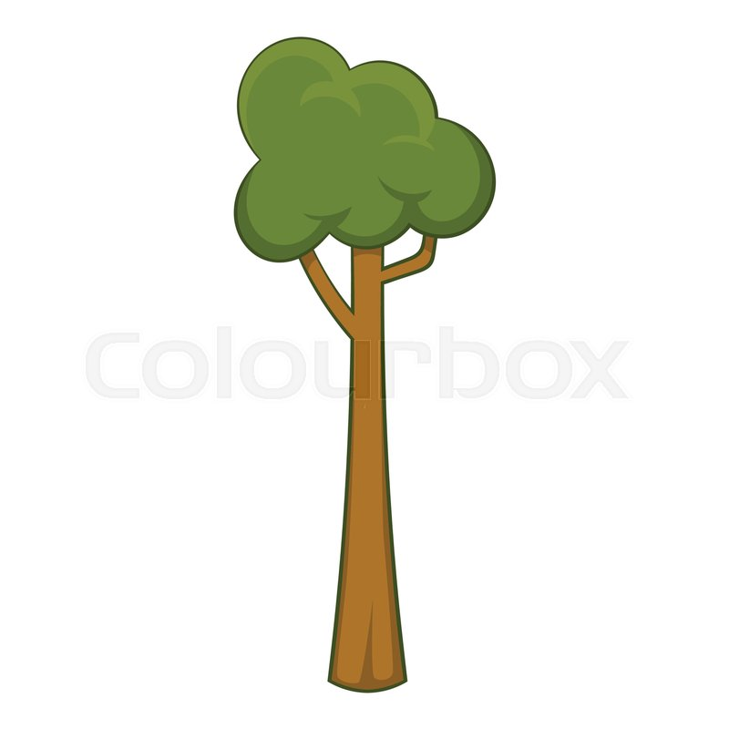 Thin Tree Icon Cartoon Illustration Stock Vector Colourbox Free cartoon tree icon with simple design. thin tree icon cartoon illustration