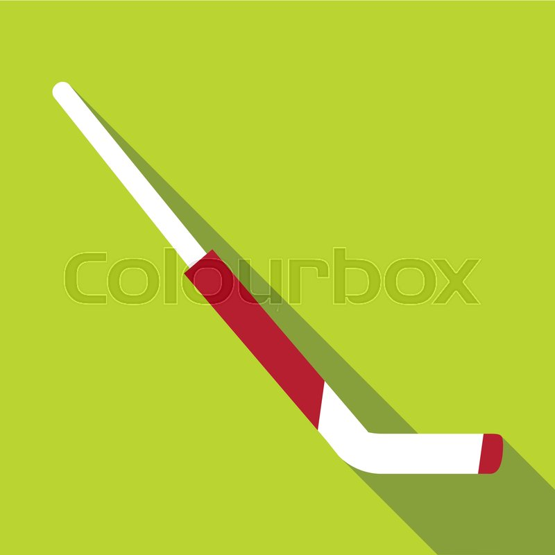 Hockey Goalie Stick Icon Flat Stock Vector Colourbox