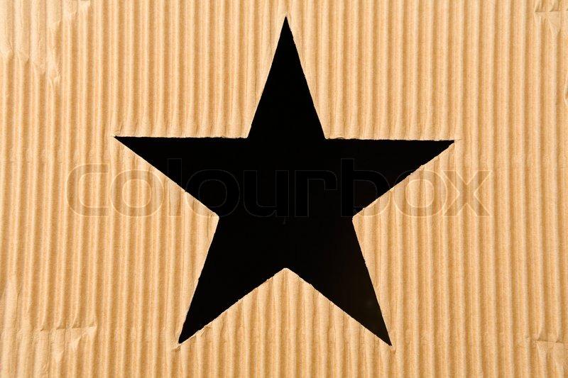 Star Shaped Hole In Cardboard Box