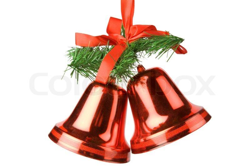 weihnachtsglocken dekoration isoliert auf wei em. Black Bedroom Furniture Sets. Home Design Ideas