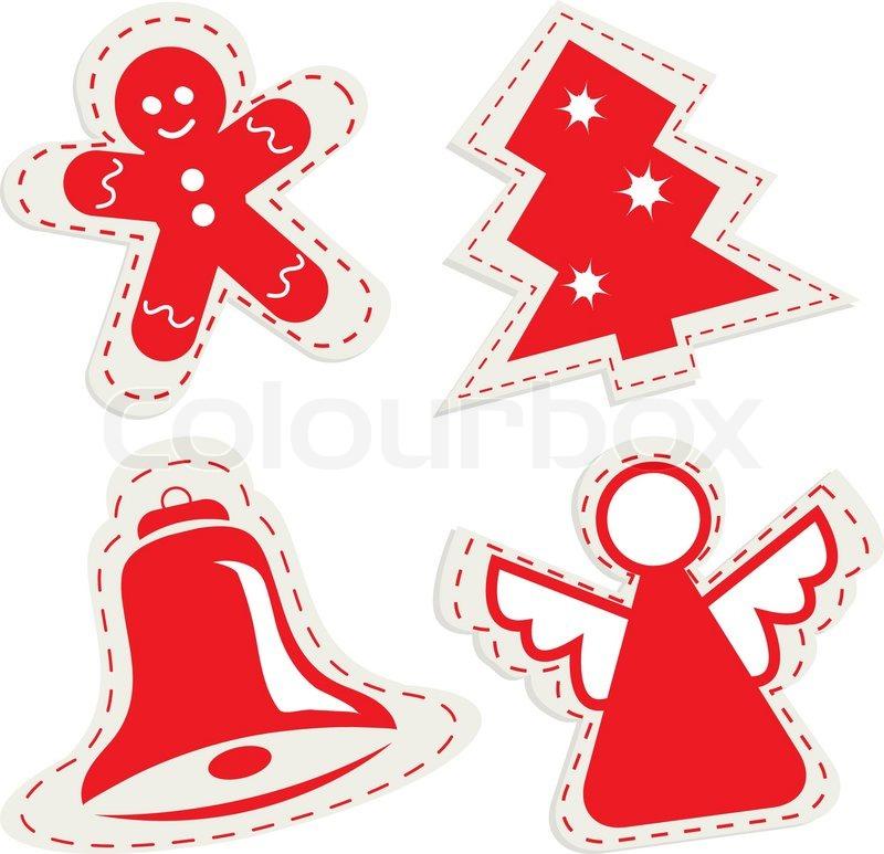 weihnachten symbol mit lebkuchen tannenbaum gl ckchen. Black Bedroom Furniture Sets. Home Design Ideas