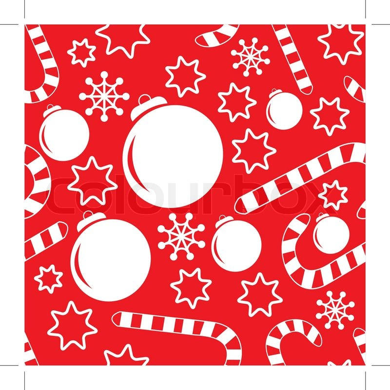 Christmas Decorations Candy Canes Delectable Seamless Pattern With Christmas Decorations Candy Canes 2018