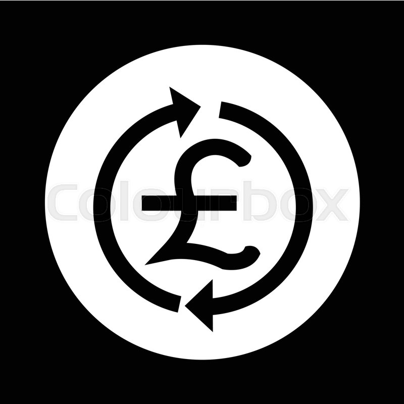 Money Gbp Currency Symbol Pound Icon Illustration Design Stock