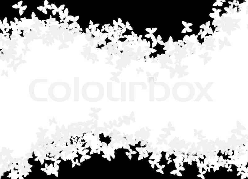 ein seitenlayout mit schmetterling silhouetten in schwarz und wei stockfoto colourbox. Black Bedroom Furniture Sets. Home Design Ideas